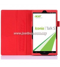 Acer Iconia Talk S A1-724 PU Leather Case - Red
