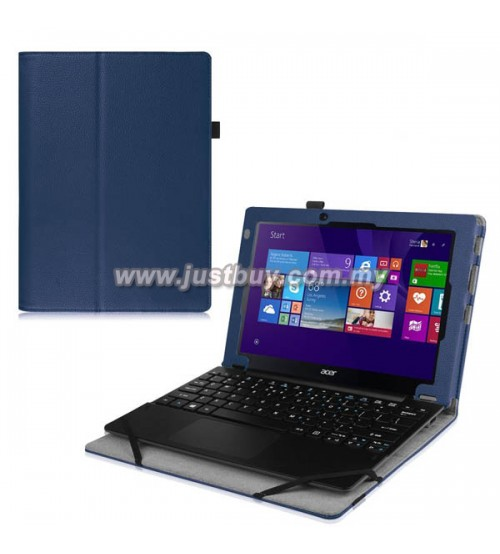 Acer Aspire Switch 10E SW3-013 Keyboard Cover PU Leather Case - Blue