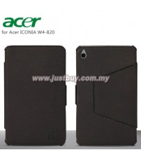 Acer Iconia W4-820 Premium Leather Case - Black