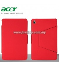 Acer Iconia W4-820 Premium Leather Case - Red