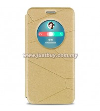 Asus Zenfone 6 Smart View Flip Cover - Gold