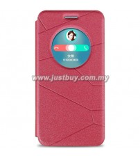 Asus Zenfone 6 Smart View Flip Cover - Red