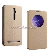 Asus Zenfone 2 S View Flip Case - Gold