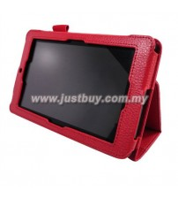 Asus Memo ME172V Leather Case - Red