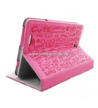 Asus Fonepad ME371 Cute Pattern Skin Leather Case - Pink