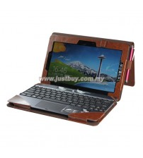 ASUS VivoTab RT TF600T Full Body Keyboard Cover Leather Case - Brown