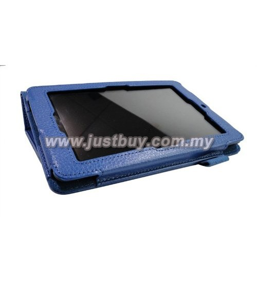 Buy Asus Memo Pad HD 7 ME173x Leather Case - Blue Malaysia