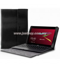 Asus Transformer Book T100TA Premium Slim Keyboard Leather Case - Black