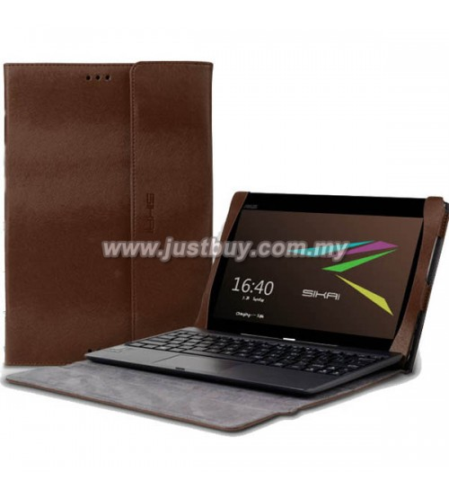 Asus Transformer Book T100TA Premium Slim Keyboard Leather Case - Brown