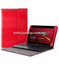 Asus Transformer Book T100TA Premium Slim Keyboard Leather Case - Red