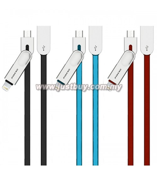 PINENG PN-307 Micro USB + Lightning High Speed Data & Charging Cable