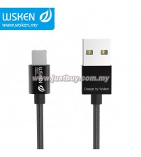 WSKEN Micro USB + Lightning 2 In 1 Cable - Black