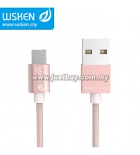 WSKEN Micro USB + Lightning 2 In 1 Cable - Rose Gold