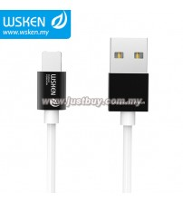 WSKEN Micro USB + Lightning 2 In 1 Reversible USB Cable - Black