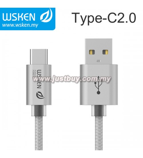 WSKEN Type C 2.0 USB Cable - Silver