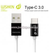 WSKEN Type C 3.0 USB Cable - Black