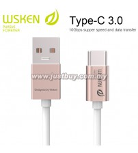 WSKEN Type C 3.0 USB Cable - Rose Red