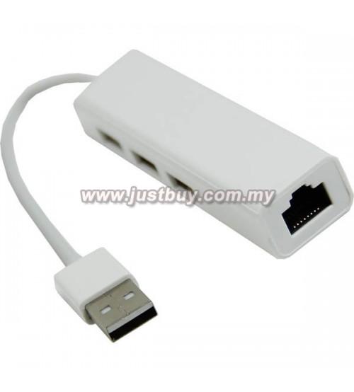 Macbook 3 Port Multi Function Lan Adapter