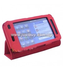 Dell Streak 5 Leather Case - Red