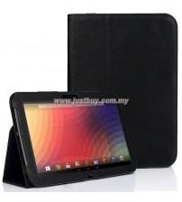 Google Nexus 10 Leather Case - Black