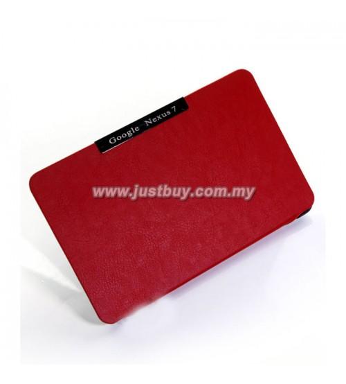 Google Nexus 7 Slim Book Cover Case - Red