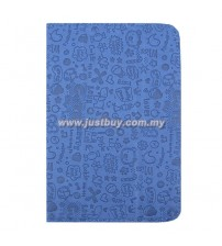 Google Nexus 7 Korea Cute Leather Case - Blue