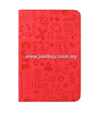 Google Nexus 7 Korea Cute Leather Case - Red