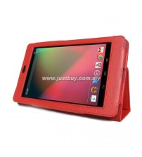 Google Nexus 7 Leather Case - Red