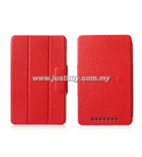 Google Nexus 7 Slim PU Leather Smart Case - Red