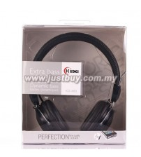 KIDA KD-460 Extra Bass Headphone With Mic - Black