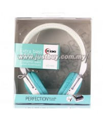 KIDA KD-460 Extra Bass Headphone With Mic - Blue