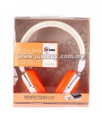 KIDA KD-460 Extra Bass Headphone With Mic - Orange