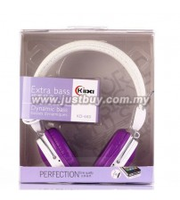 KIDA KD-460 Extra Bass Headphone With Mic - Purple