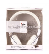 KIDA KD-460 Extra Bass Headphone With Mic - White