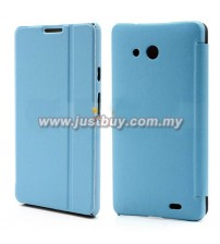 Huawei Ascend Mate Flip Leather Case - Blue