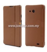 Huawei Ascend Mate Flip Leather Case - Brown