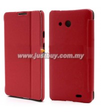 Huawei Ascend Mate Flip Leather Case - Red