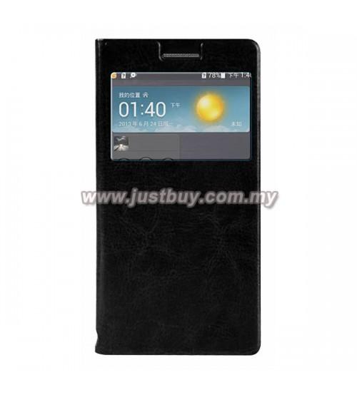 Huawei Ascend P6 Flip Cover - Black