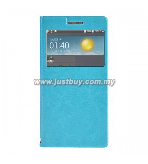 Huawei Ascend P6 Flip Cover - Blue
