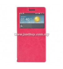 Huawei Ascend P6 Flip Cover - Pink