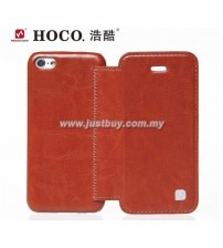 iPhone 5c HOCO Crystal Series Flip Leather Case - Brown