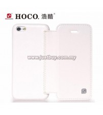 iPhone 5c HOCO Crystal Series Flip Leather Case - White