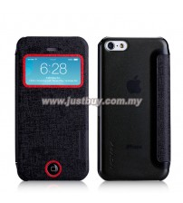 iPhone 5c MOMAX Flip View Case - Black