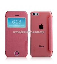 iPhone 5c MOMAX Flip View Case - Pink