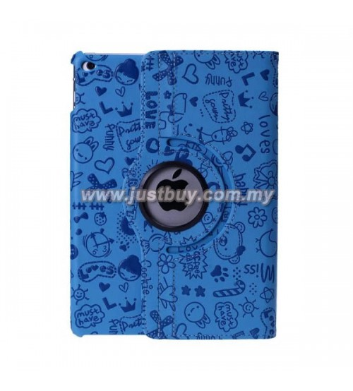 iPad Air 2 Cute Design Rotating Case - Blue