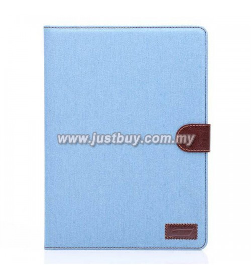iPad Air 2 Jeans Wallet Case - Light Blue