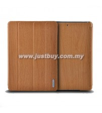 iPad Air Remax Wood Grain Leather Case - Brown
