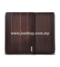 iPad Air Remax Wood Grain Leather Case - Coffee
