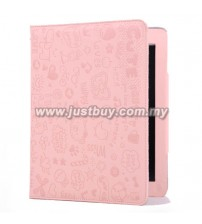 iPad Mini Cute Skin Leather Case - Pale Pink