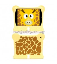 iPad Mini 1, iPad Mini 2 Griffin Kazoo Animal Stand Up Silicone Case - Giraffe
